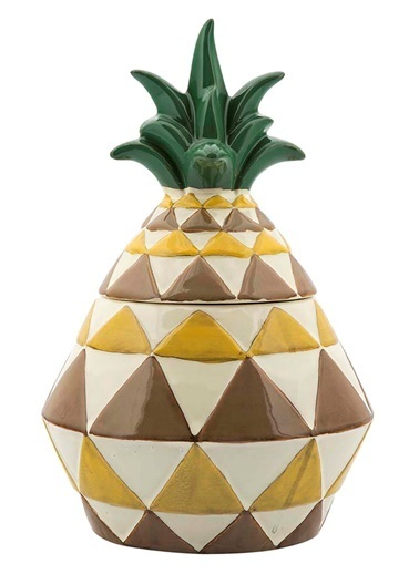 Vitale Seramik Dekoratif Ananas Büyük Boy Renkli